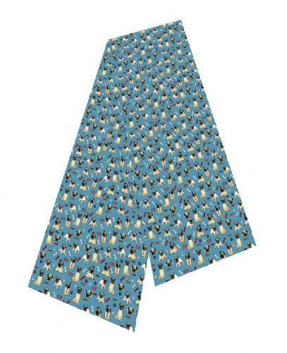 Selina-Jayne Pug Dog Limited Edition Designer Silk Scarf
